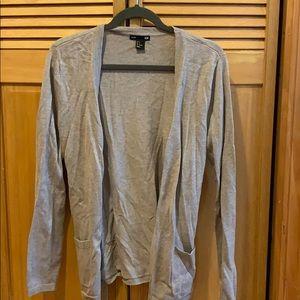 Taupe/beige cardigan sweater